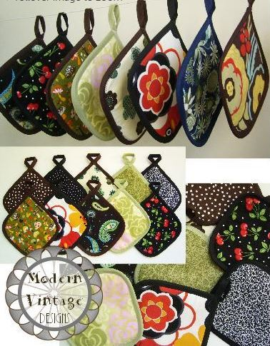 Craftsy Member Pattern - Array of Quilted Potholders