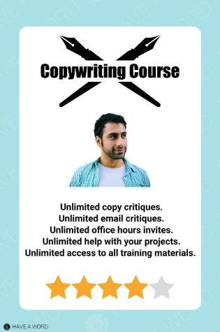 Neville Medhora Copywriting Course review