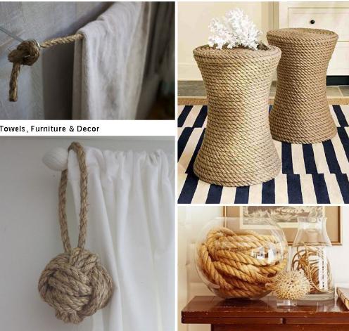 uso das cordas na decoração de interiores