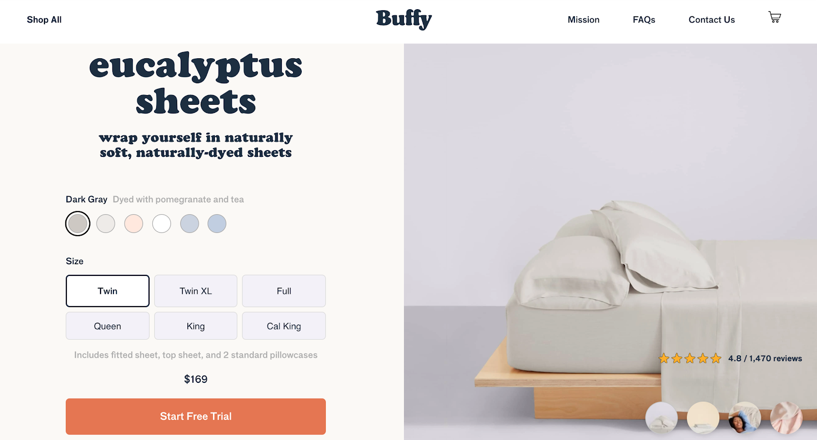 best product detail page examples buffy