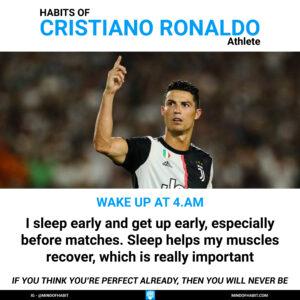 cristiano ronaldo habits