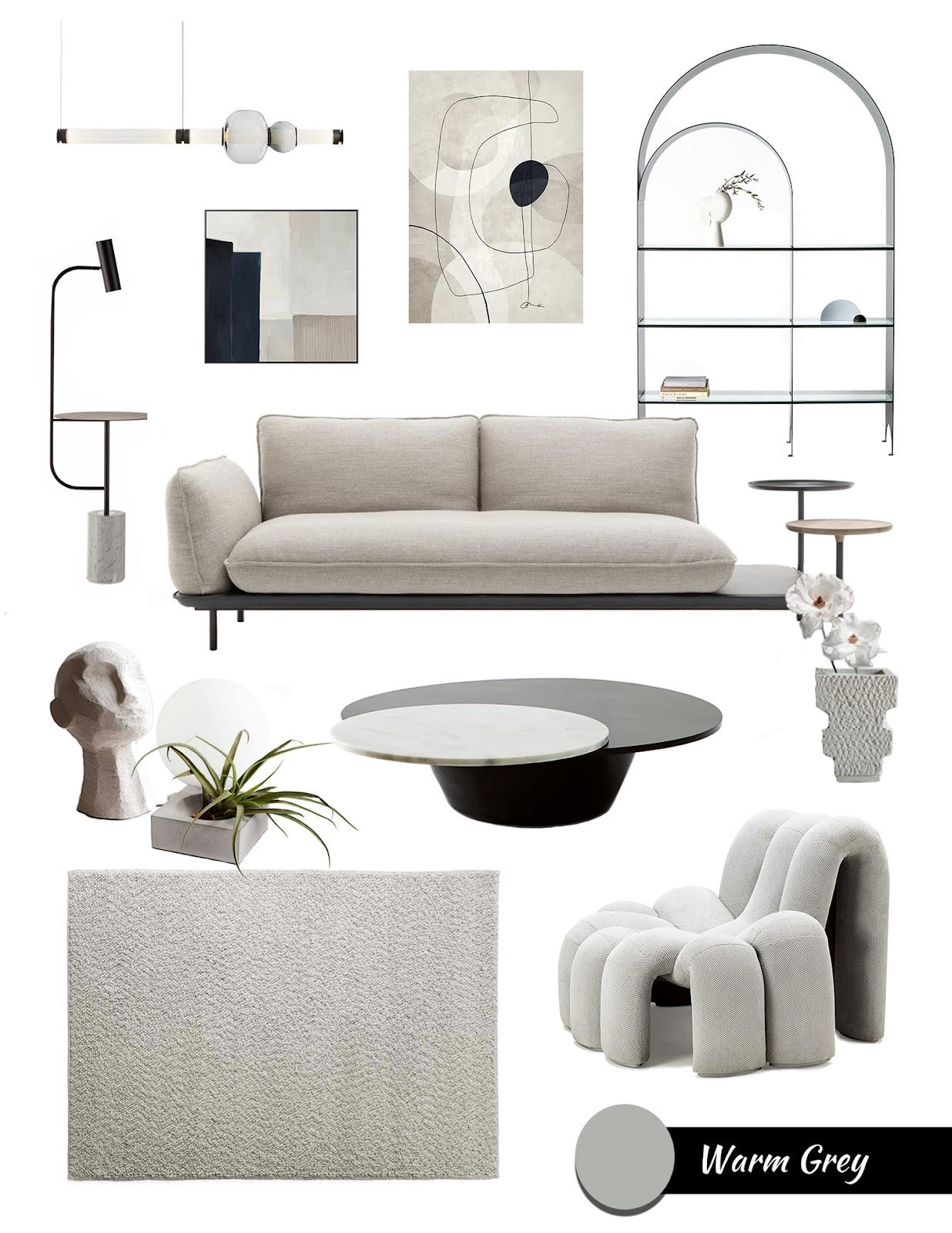 Tubular furniture trend moodboard