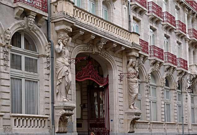 """Fachadas de el Grand Hotel Continental que son consideradas """"Monumento Histórico"""""""