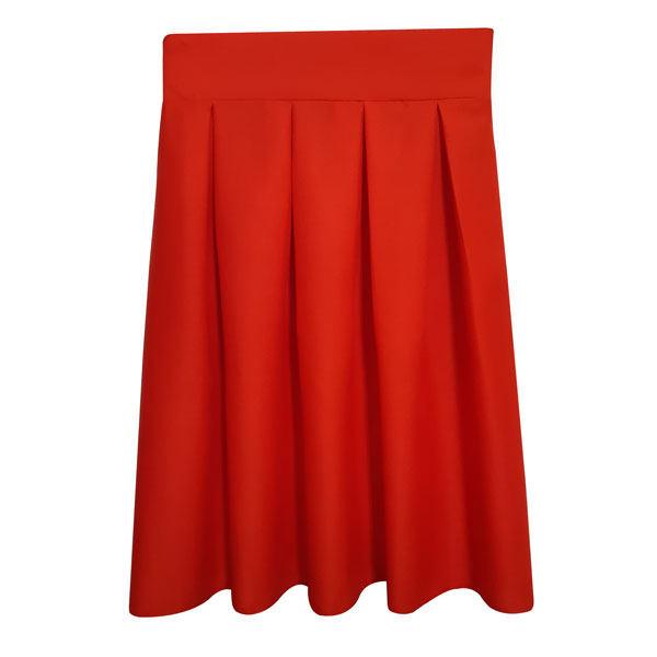دامن زنانه کد pegh70 رنگ قرمز