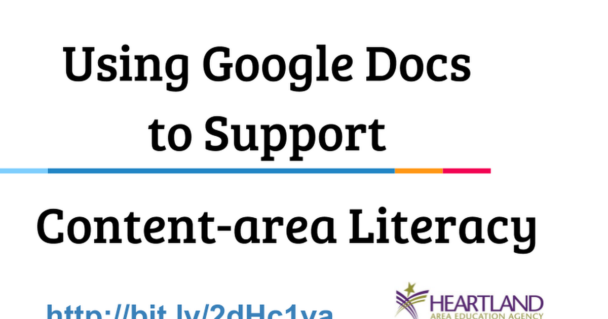 Using Google Docs to Support Content-area Literacy ITEC 2016