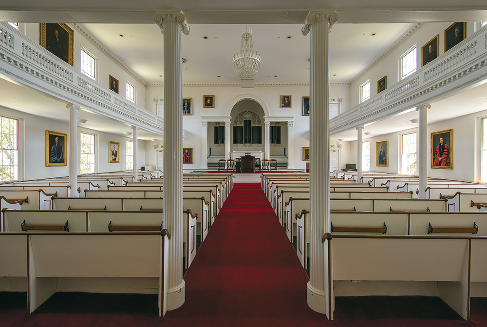 Picture of the inside of Johnson Chapel