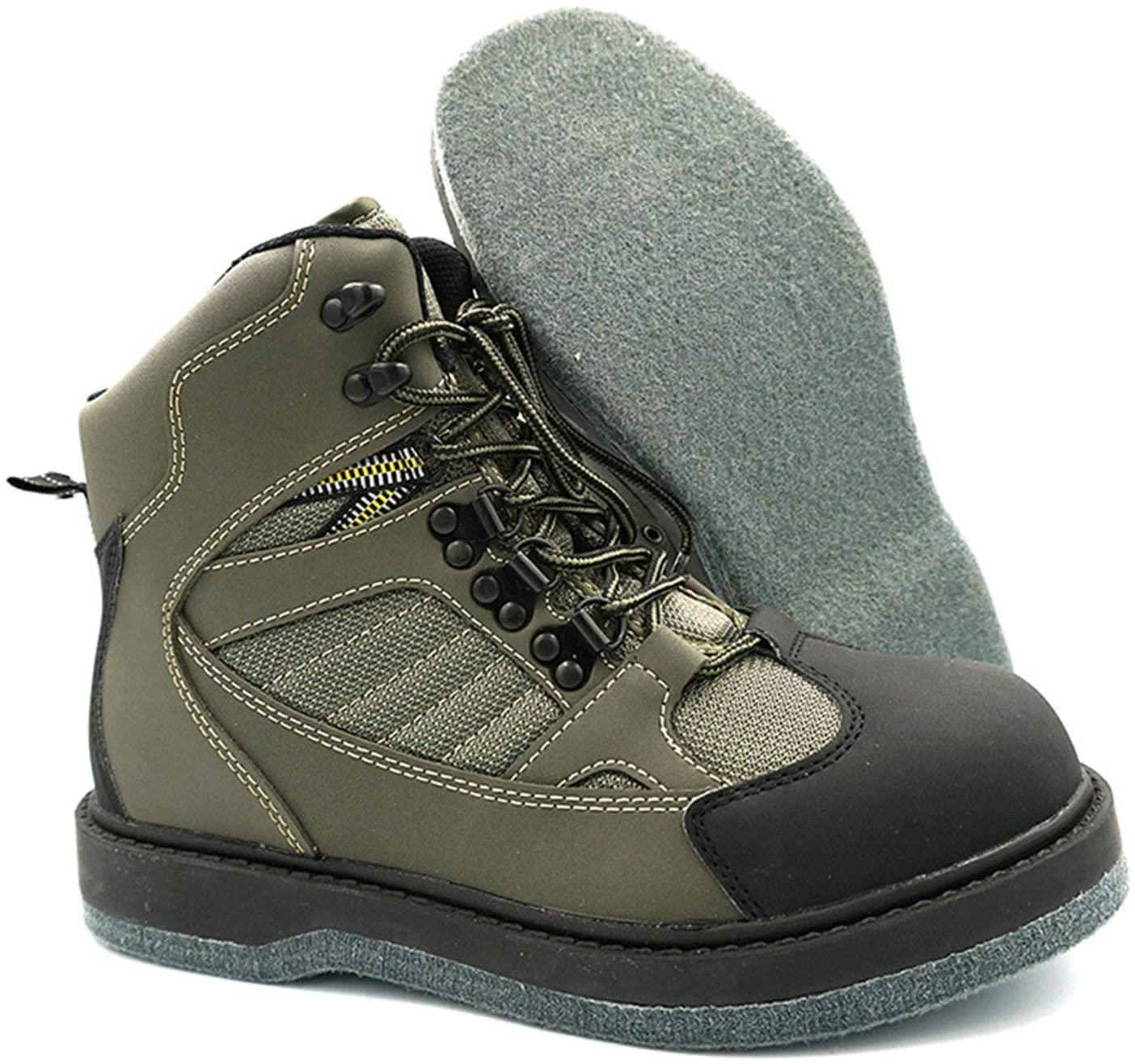 Felt sole saltwater boots
