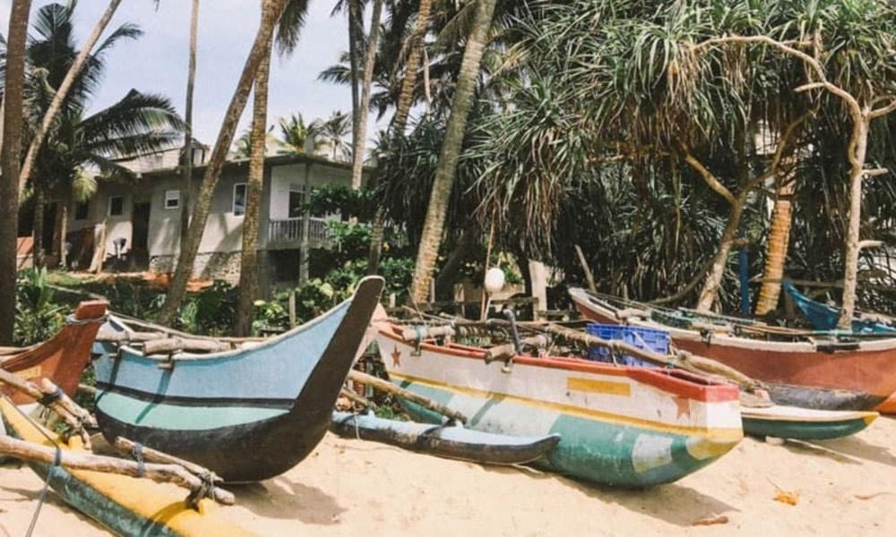 Costal Mirissa in Sri Lanka