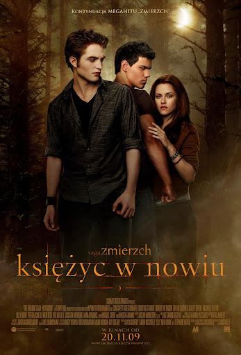 Polski plakat filmu 'Saga Zmierzch: Księżyc W Nowiu'