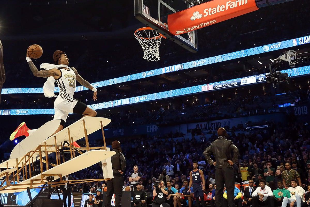 2021 NBA All-Star Game: John Collins' dunk contest failure would have made the Wright brothers  proud - 2019 NBA All-Star Game