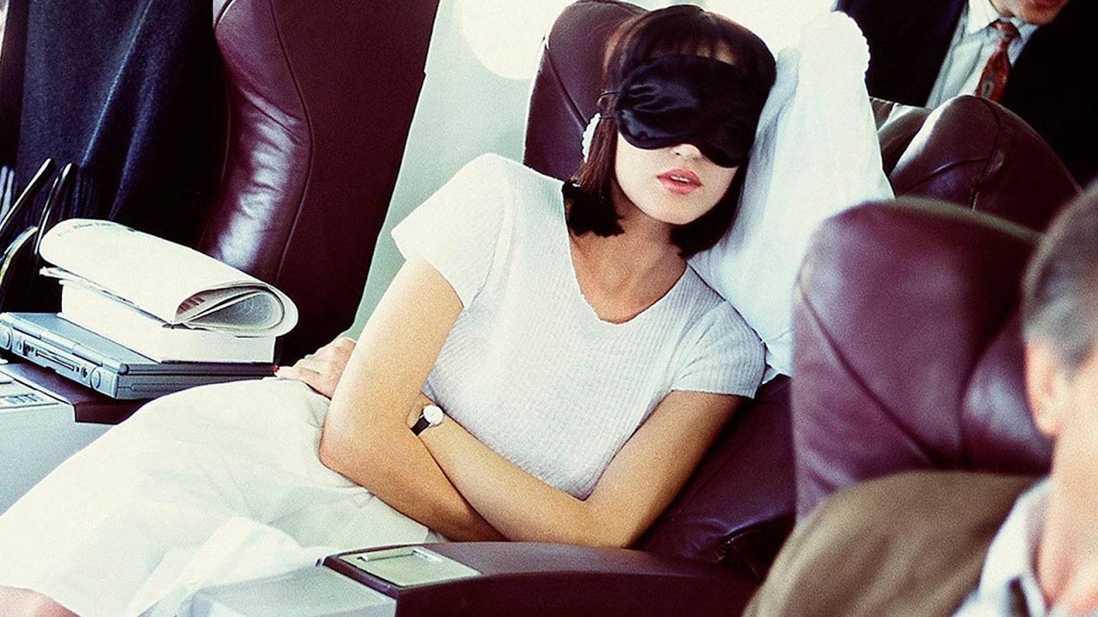 relax on flight for overcoming jet lag