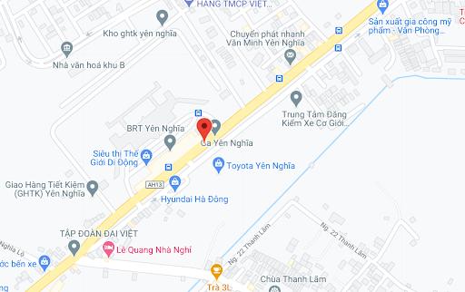 Địa điểm đón/trả khách tại Hà Nội