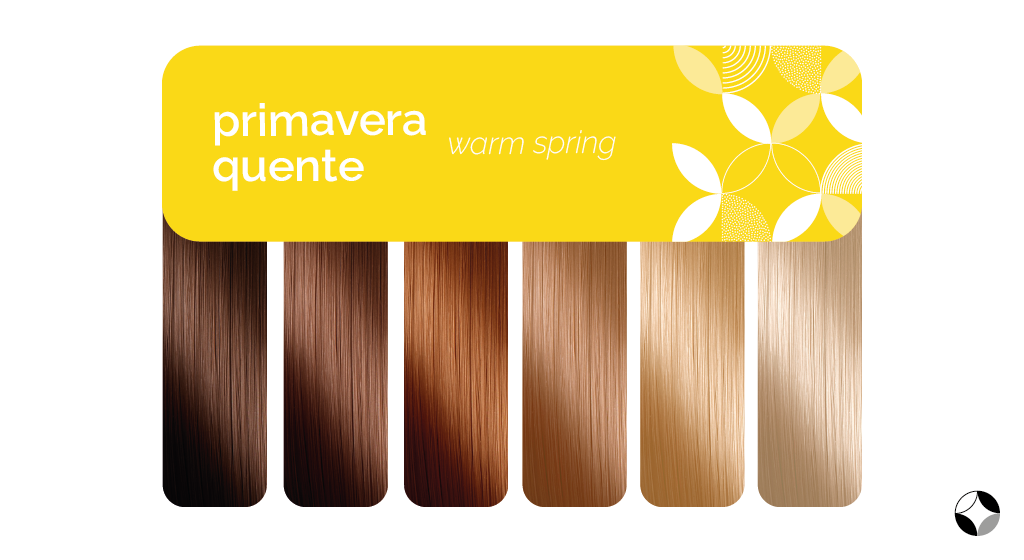 Tons de cabelo da Primavera Pura