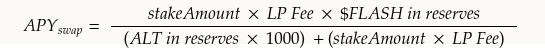 APY swap formula