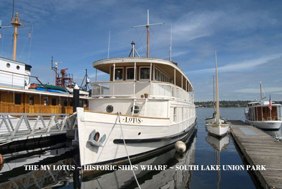 Photo of the MV Lotus at Home Port ~ the Historic Ships Wharf
