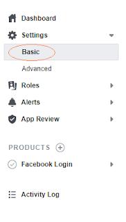 oauth2 facebook top settings