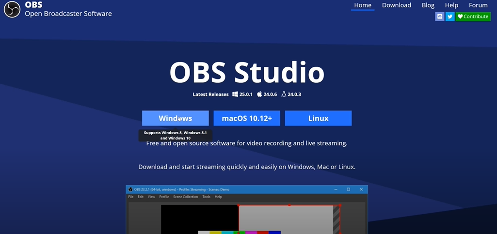 Screen Record on Windows 10 using OBS Studio