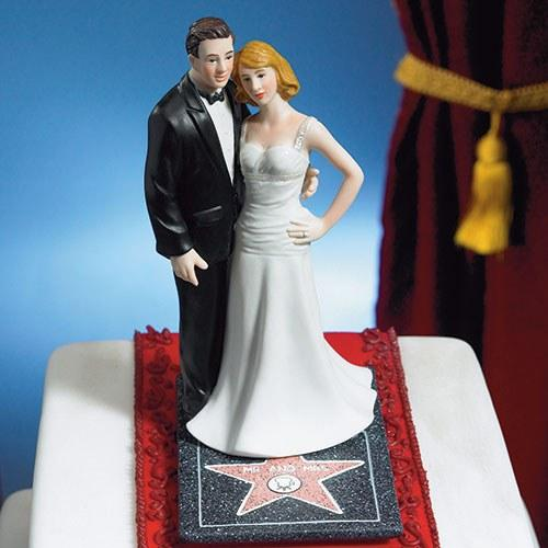 glamorous Hollywood bride and groom topper