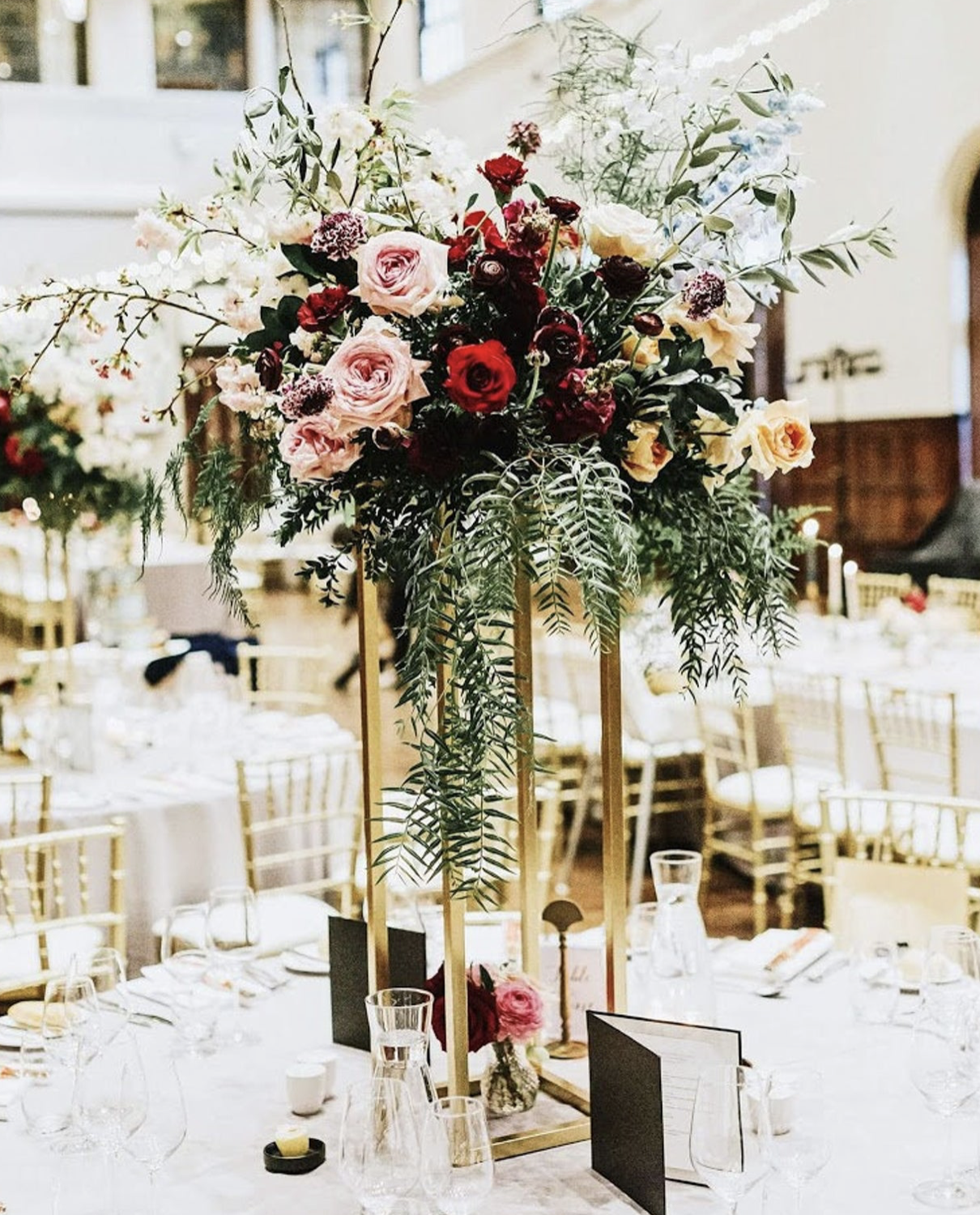 rectangular stand for wedding table centerpiece