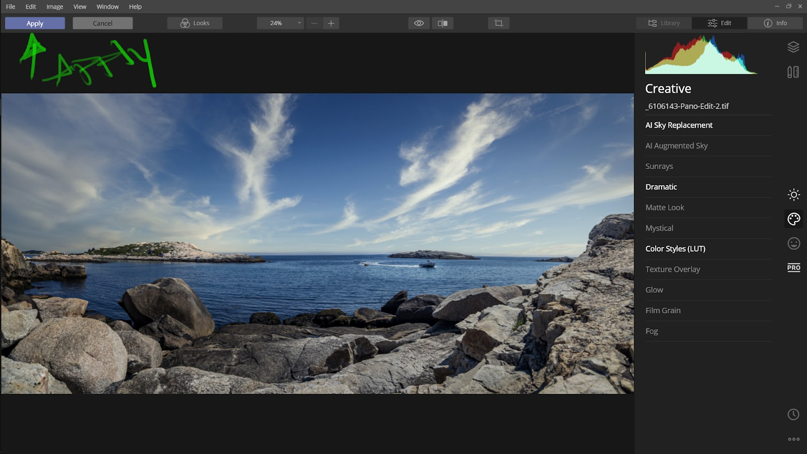 Integration Lightroom and Syklum Luminar 4.3