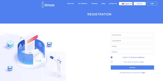 Bitmax account registration
