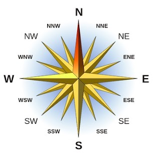 "a ""Compass Rose"" Single letter points are called ""primary points"" (N,S,E,W), two letter points are called ""secondary points"" (NE, SW, etc...), and three lettered points are called ""tertiary points"" (NNE, ESE, etc...)"