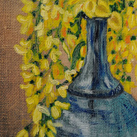 Acacia vase flowers
