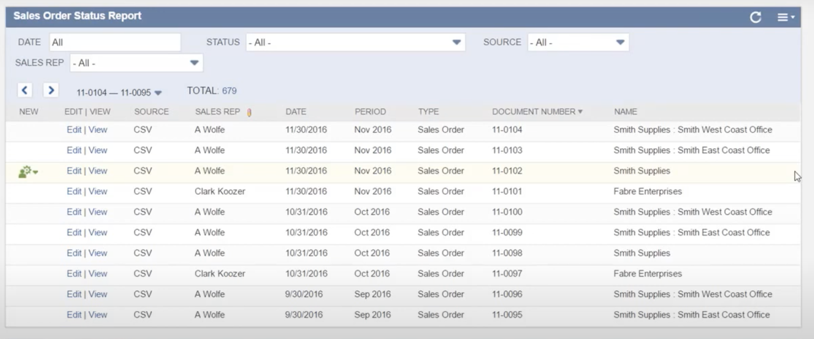 NetSuite's saved search portlet, which allows you to pull in any important data.