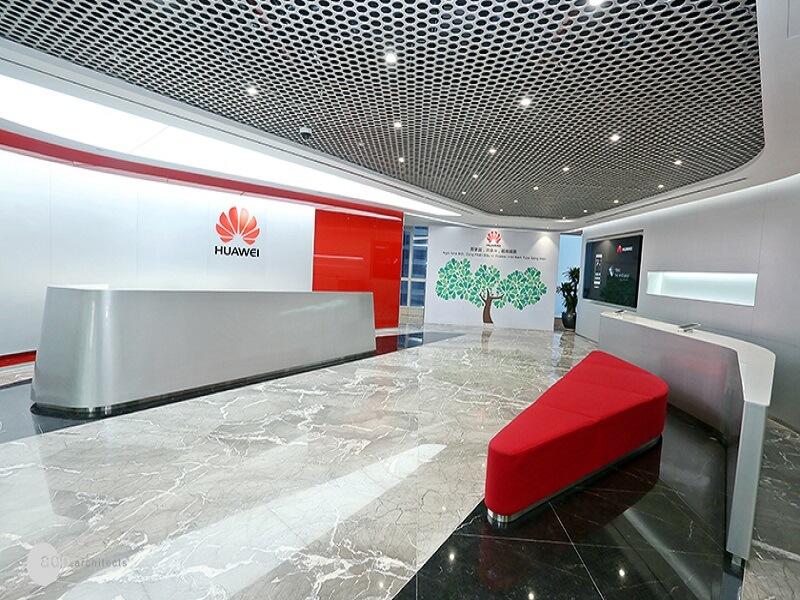 Sảnh chính tại văn phòng Huawei Hà Nội