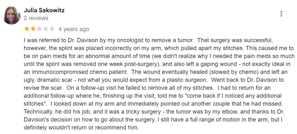 DAVinci Plastic Surgery review