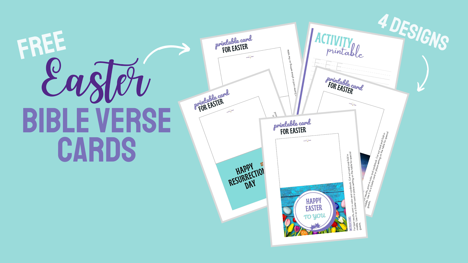 Need Easter Verses for Cards? Here are 10 easy to understand Easter Bible Verses perfect for DIY Cards and Pre-Made Cards.