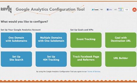 Công cụ cấu hình Google Analytics của Raven