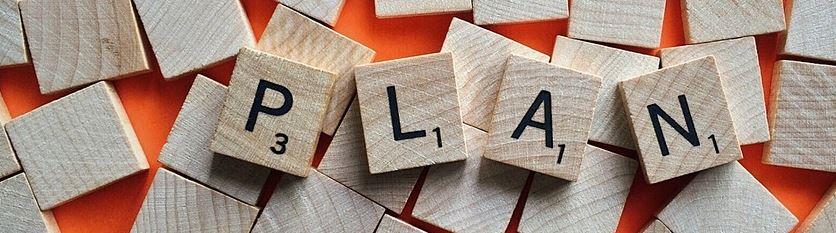 Hypnose Bernau - Scrabble Steine als  Symbol für Planung