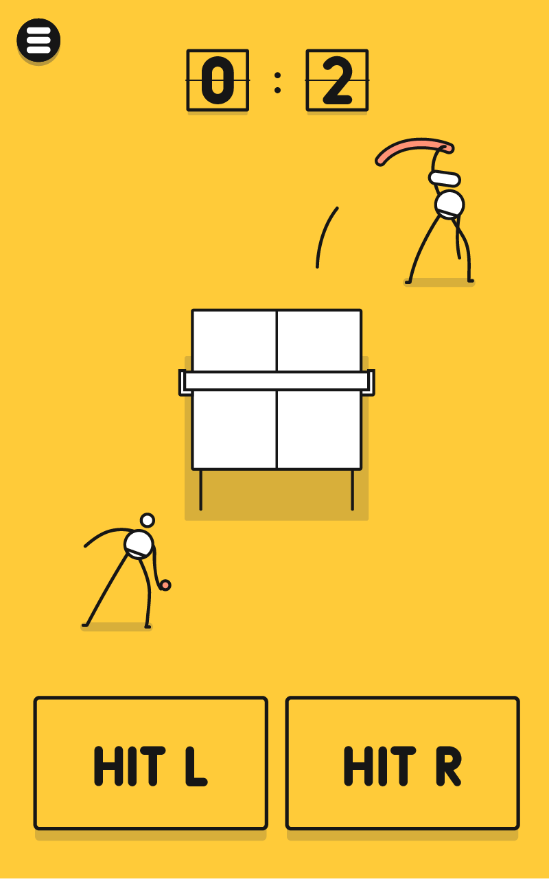 The Best Game Design: The Minimalist I'm Ping Pong King :)