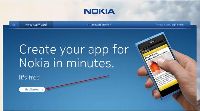 Make a Free Nokia App