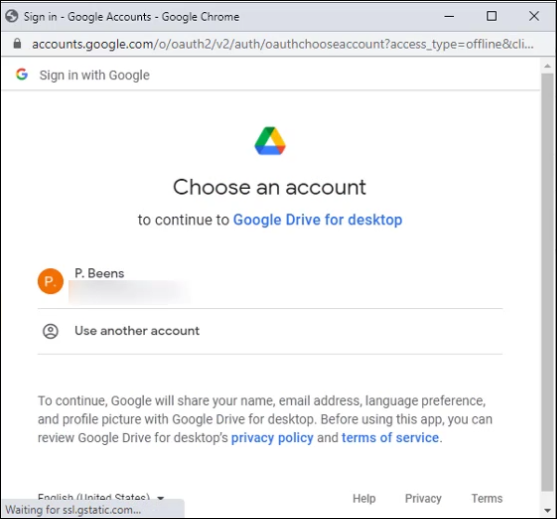 Google Colab - Connect to a Specific Google Drive account
