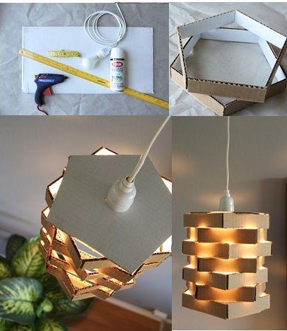 luminaria papelão
