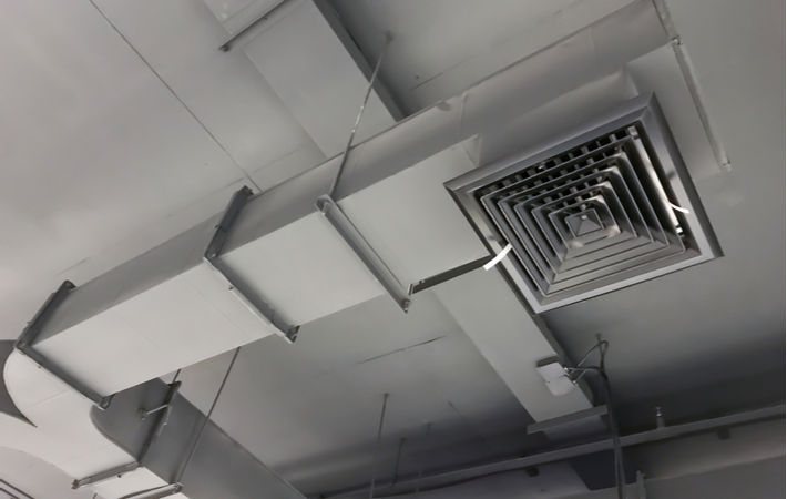 Photo of a duct and vent system for a furnace