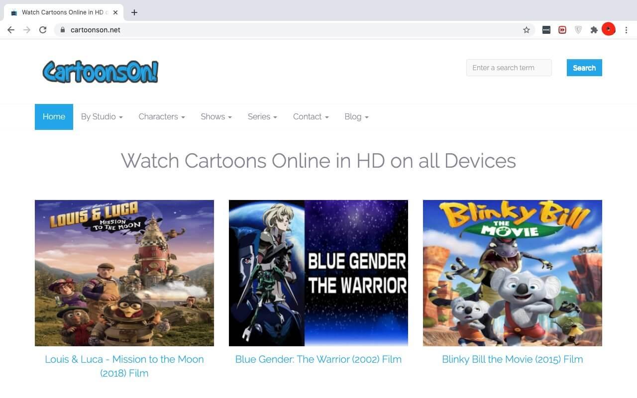 cartoons on website