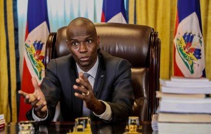O presidente, Jovenel Moïse, em uma entrevista ao EL PAÍS, em fevereiro deste ano. haiti