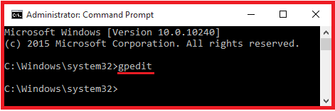 open Local Group Policy Editor using command prompt