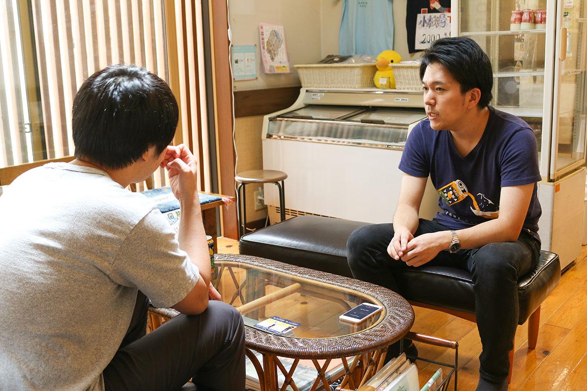 小杉湯の三代目、平松佑介さんにインタビューする、ヤッホーブルーイングの「いっくん」