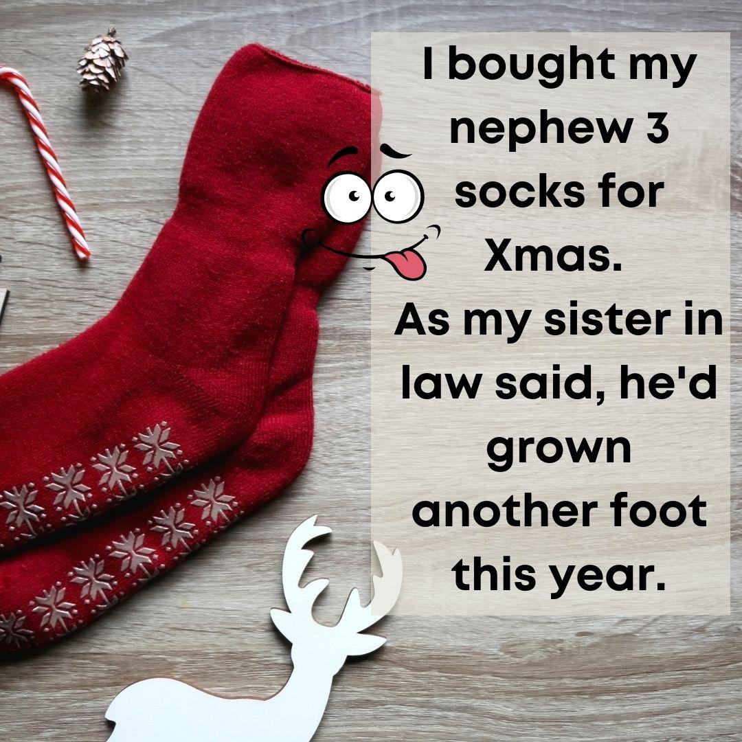 Xmas sock pun