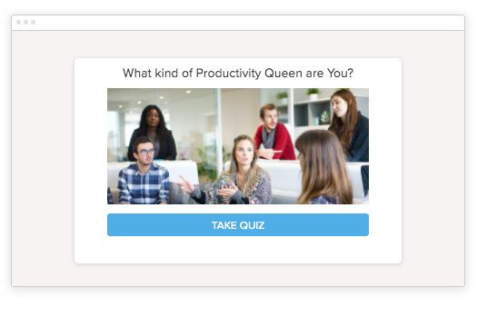 productivity quiz pop-up