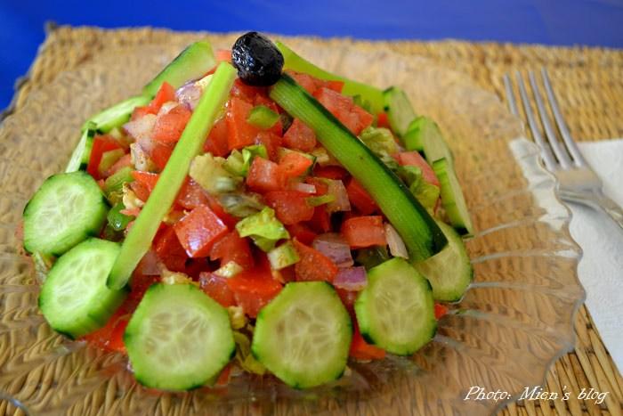 My Moroccan salad at Havana