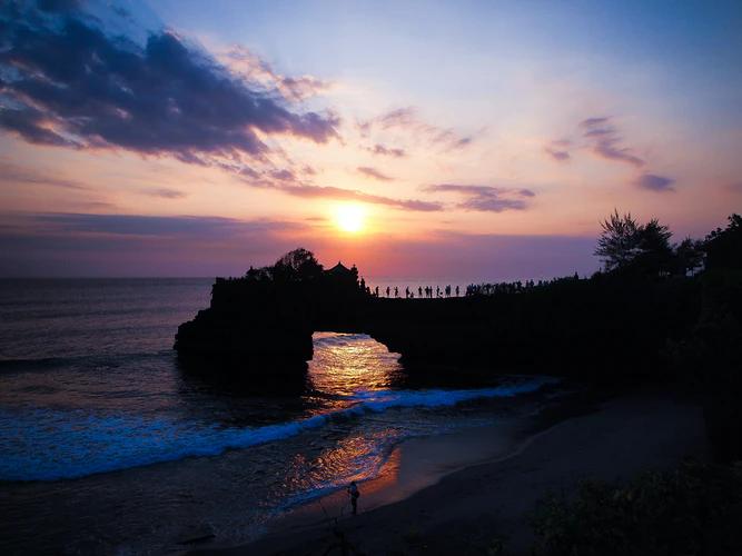 Sunset Bali di Pura Tanah Lot