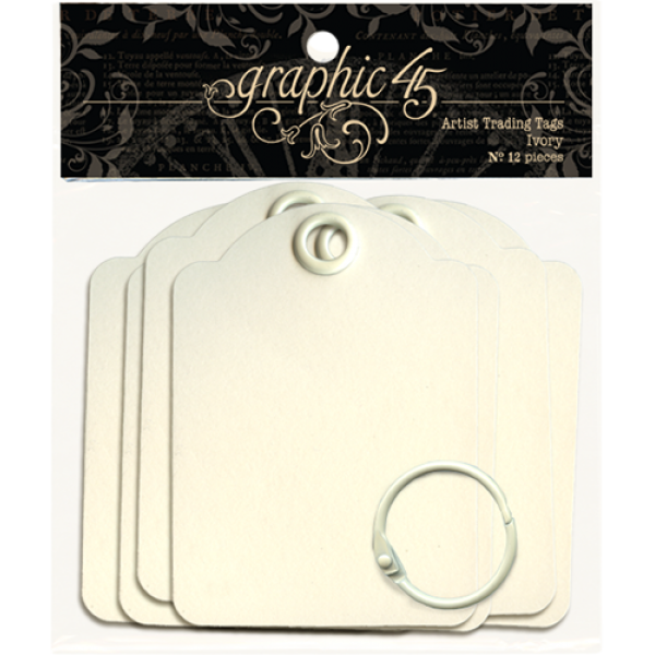 Artist Trading Tags–Ivory