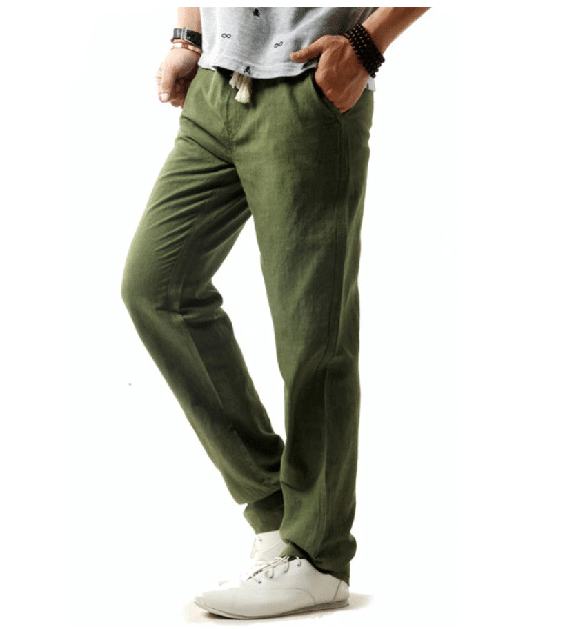 cotton pants men summer