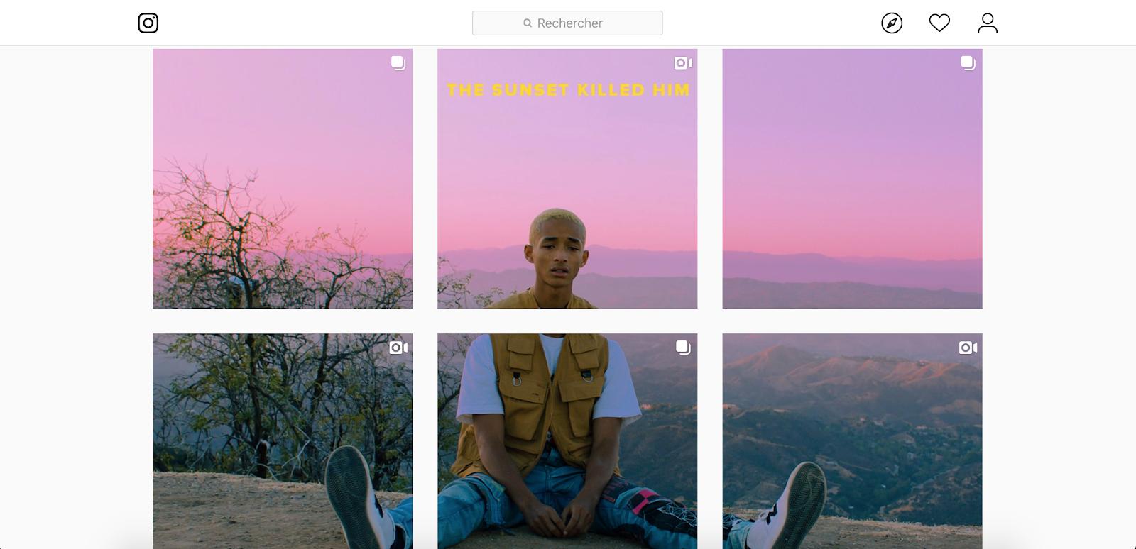 Jaden Smith's Instagram account