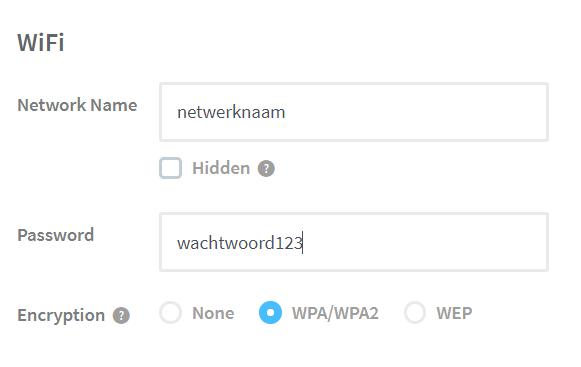 Maak een wifi qr code kaartje